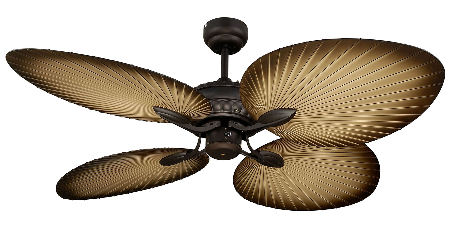ceiling fan oasis series four palm leaf shapped blade