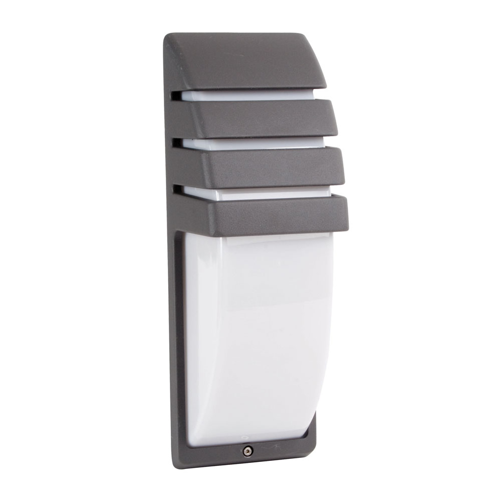 Fluorescent Exterior Wall Lights : Fluorescent Exterior Wall Light Grey Online Lighting