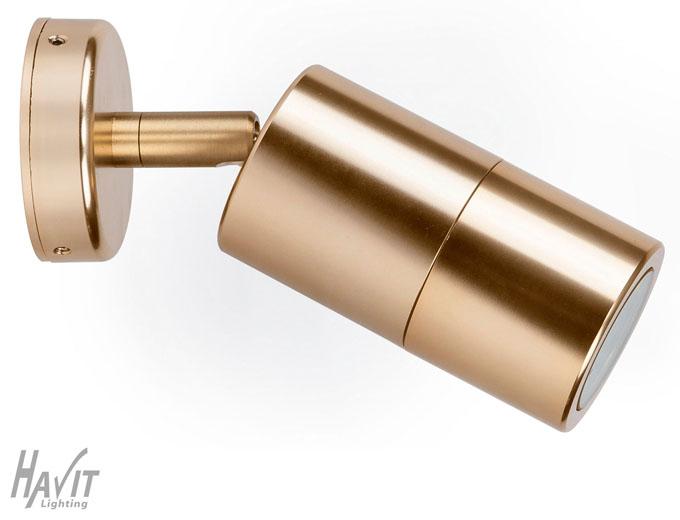 Single Adjustable LED Wall Spot Light Exterior Pillar Gold, Havit Lighting eBay