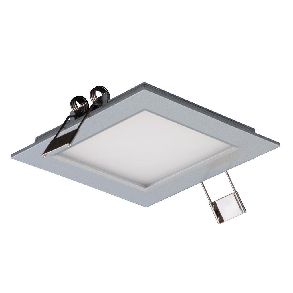Panel 101 square 3w led panel light silver frame white led - Foco led interior ...
