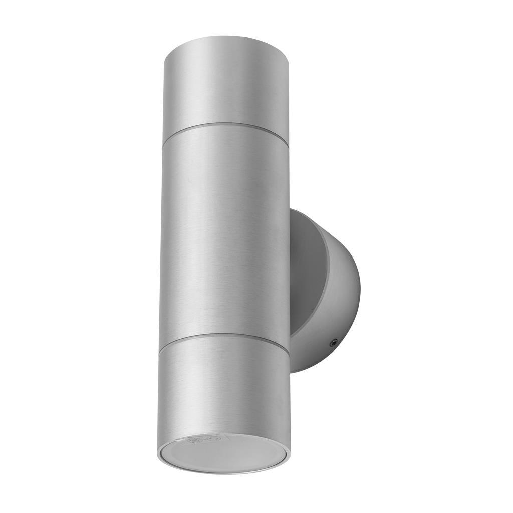 ELITE-2 Cylindrical 240V 12W Two Way LED Wall Light - Anodised Finish