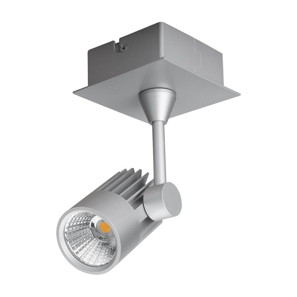 Led Spotlight Warm White: Jet 10 Watt Single Dimmable LED Spotlight Silver / Warm