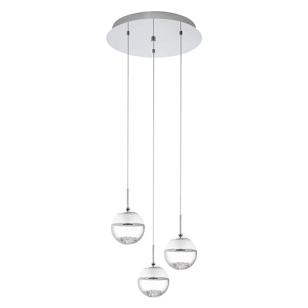 new styles 28fae 9e8ec Montefio 1 15W LED Round Pendant Chrome / Warm White - 93709