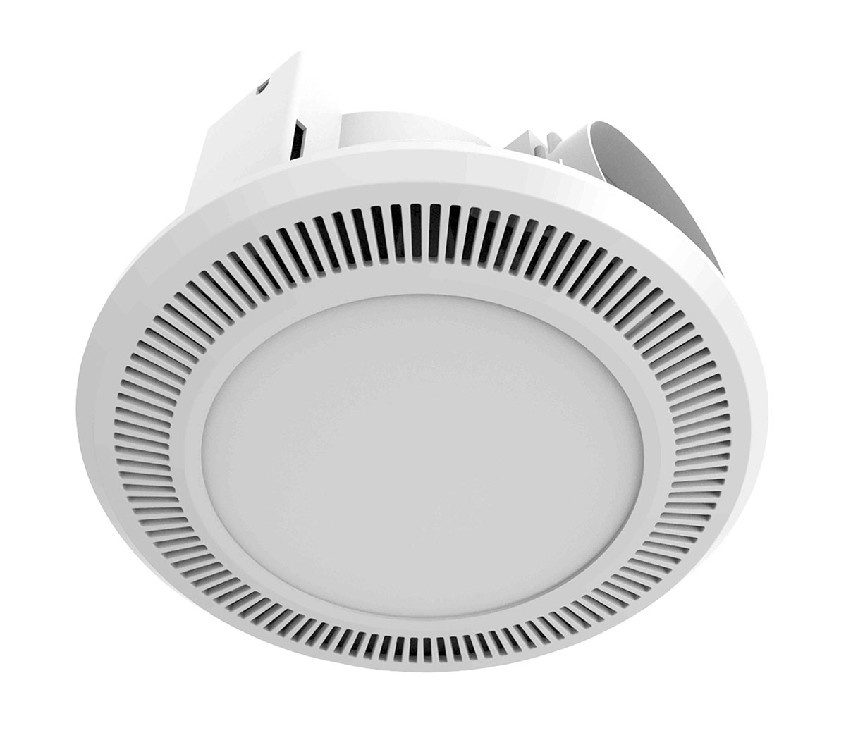 Ultraline led high extraction bathroom exhaust fan with 12w led light for Bathroom exhaust fan with led light