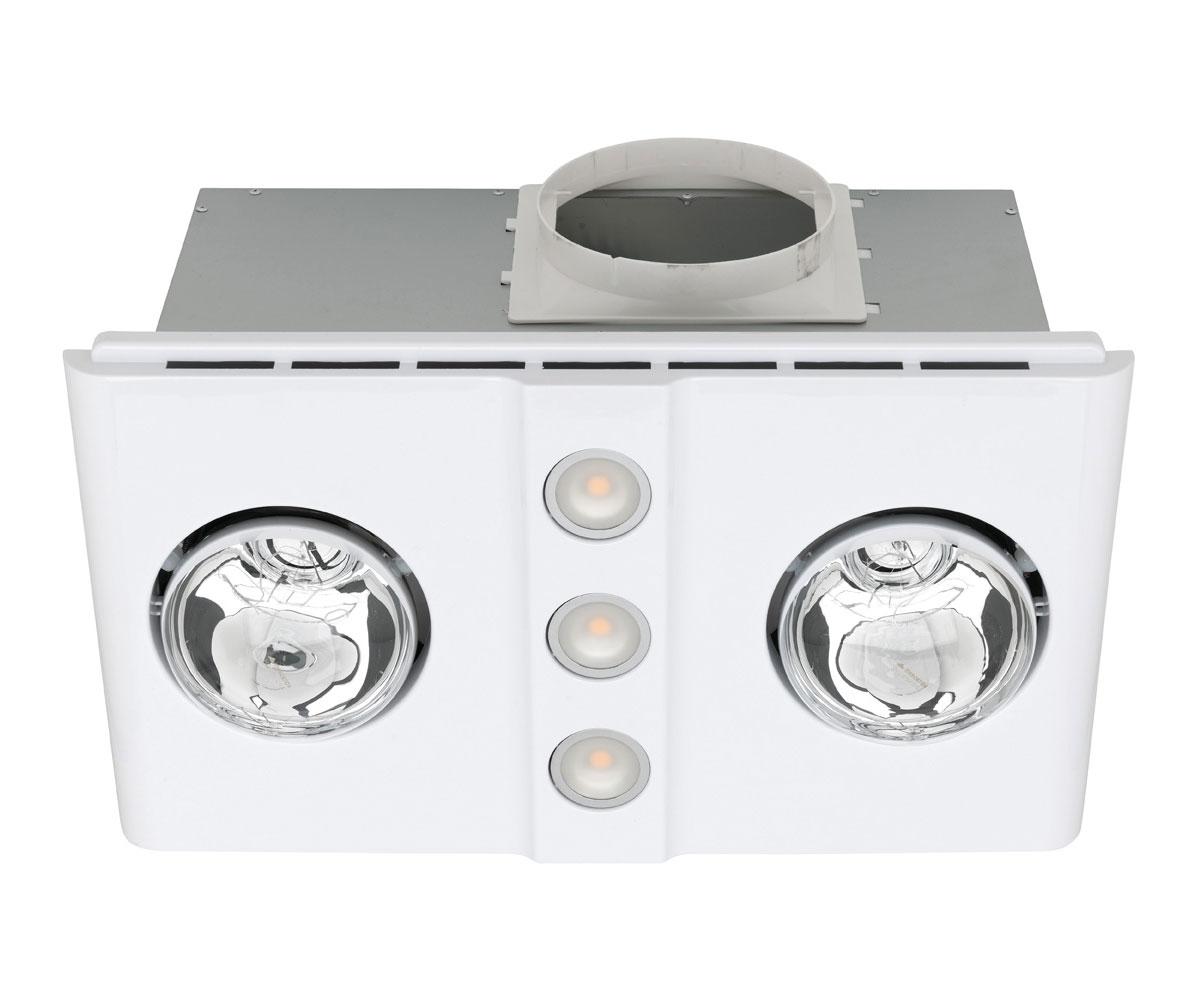 Magnus Duo LED 3-in-1 Bathroom Mate Heat/Light/Exhaust Fan
