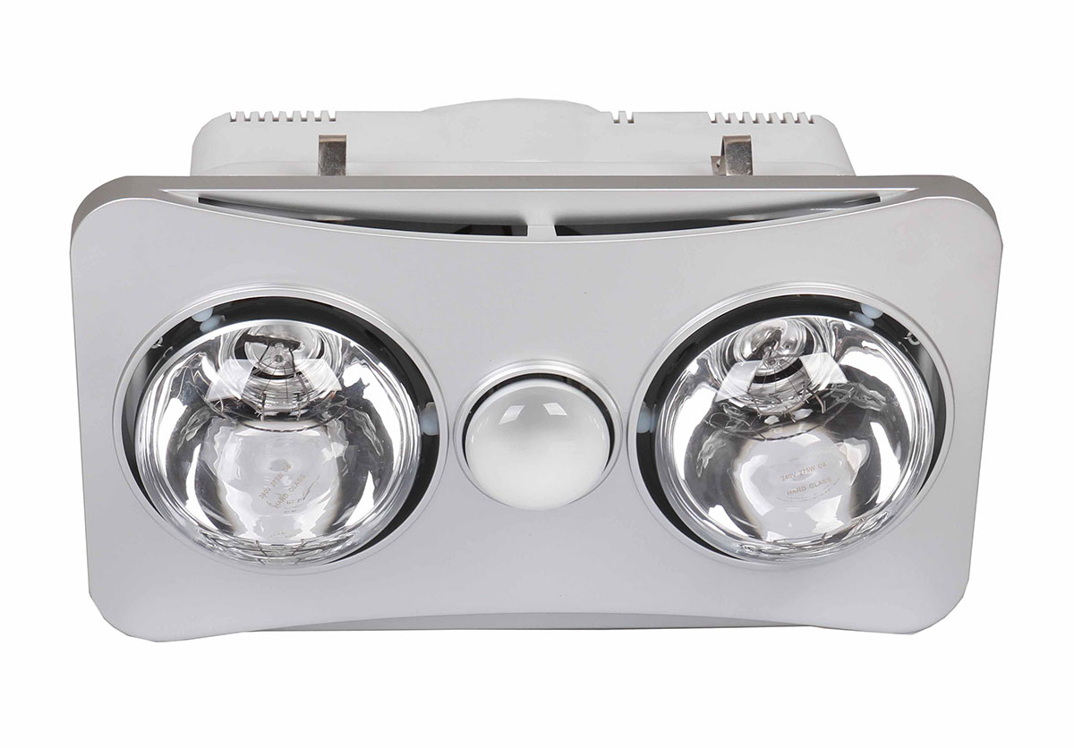Ardene duo bathroom heater light exhaust fan 3 in 1 silver - Bathroom ceiling light with heater ...