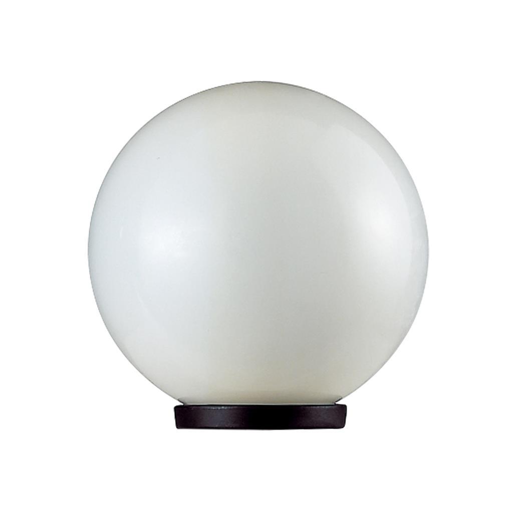 Outdoor Lamp Post Australia: Ivela 25cm Opal Sphere Post Top Light Black