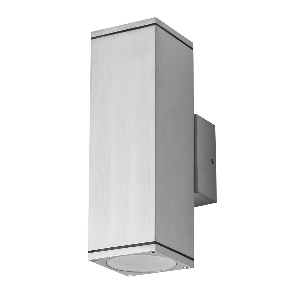 Wall Sconces That Shine Up And Down: Alpha 240V GU10 Rectangular Up/Down Wall Pillar Light