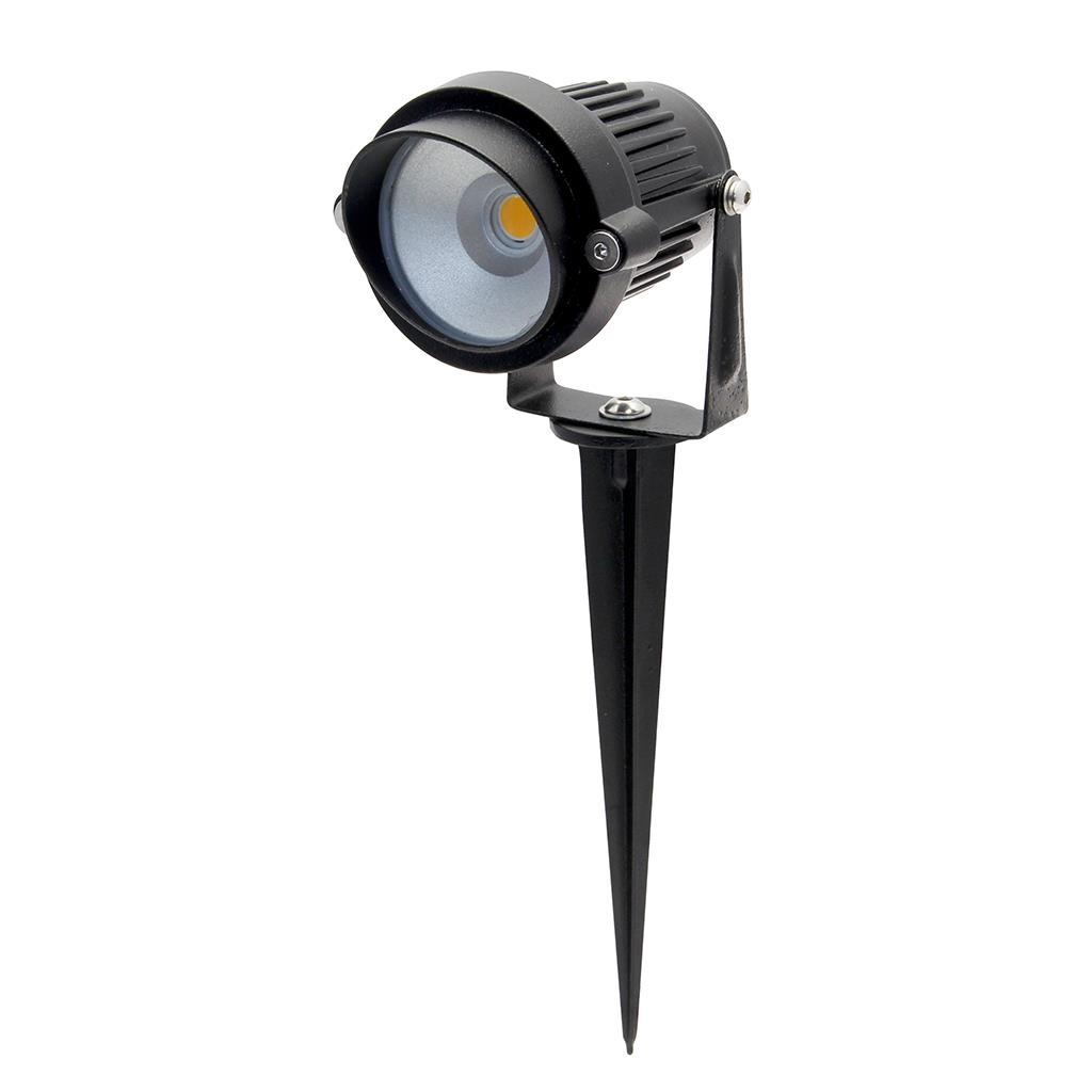 TERRA Adjustable 12V 6W LED Garden Spike Light Black Finish