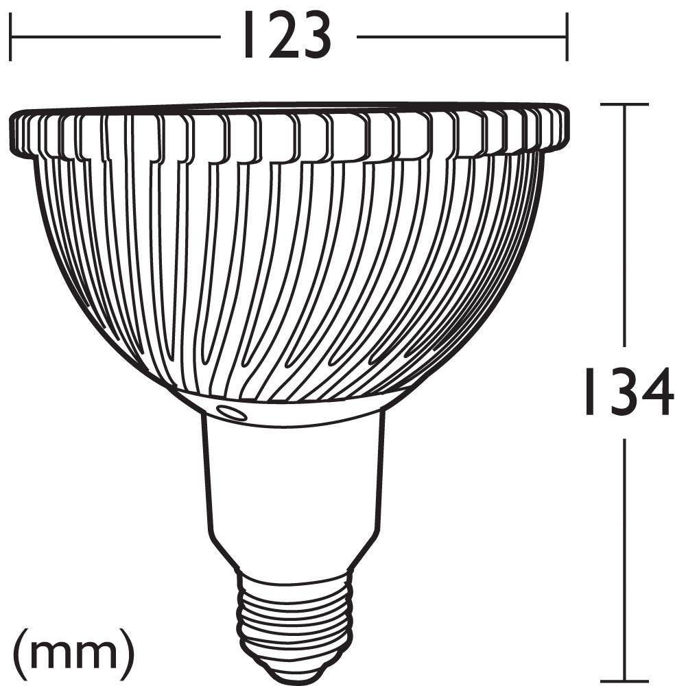 led 18w par38 es lamp