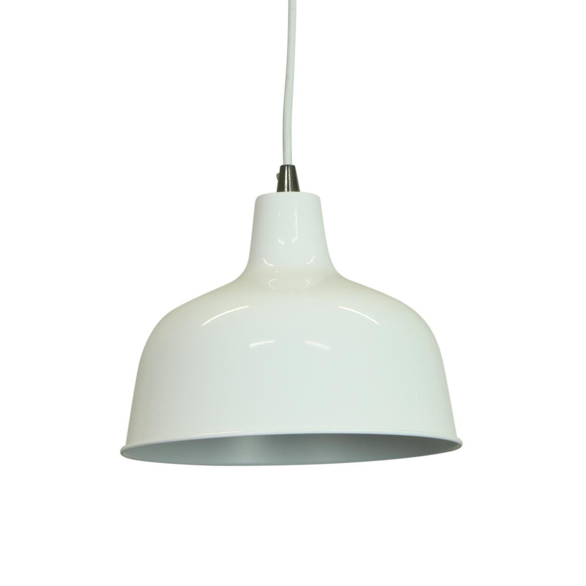 dania glossy white pendant lighting