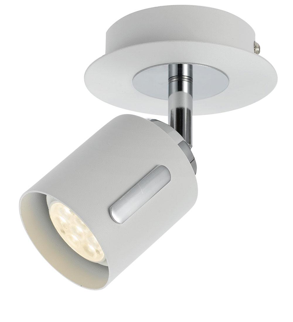 burton 6 watt single led spotlight matt white warm white burton sp