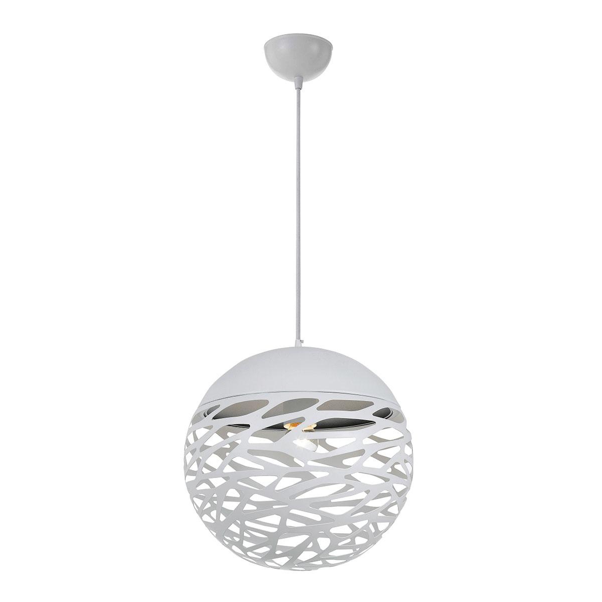 Farina large white ball pendant online lighting farina large white ball pendant mozeypictures Gallery