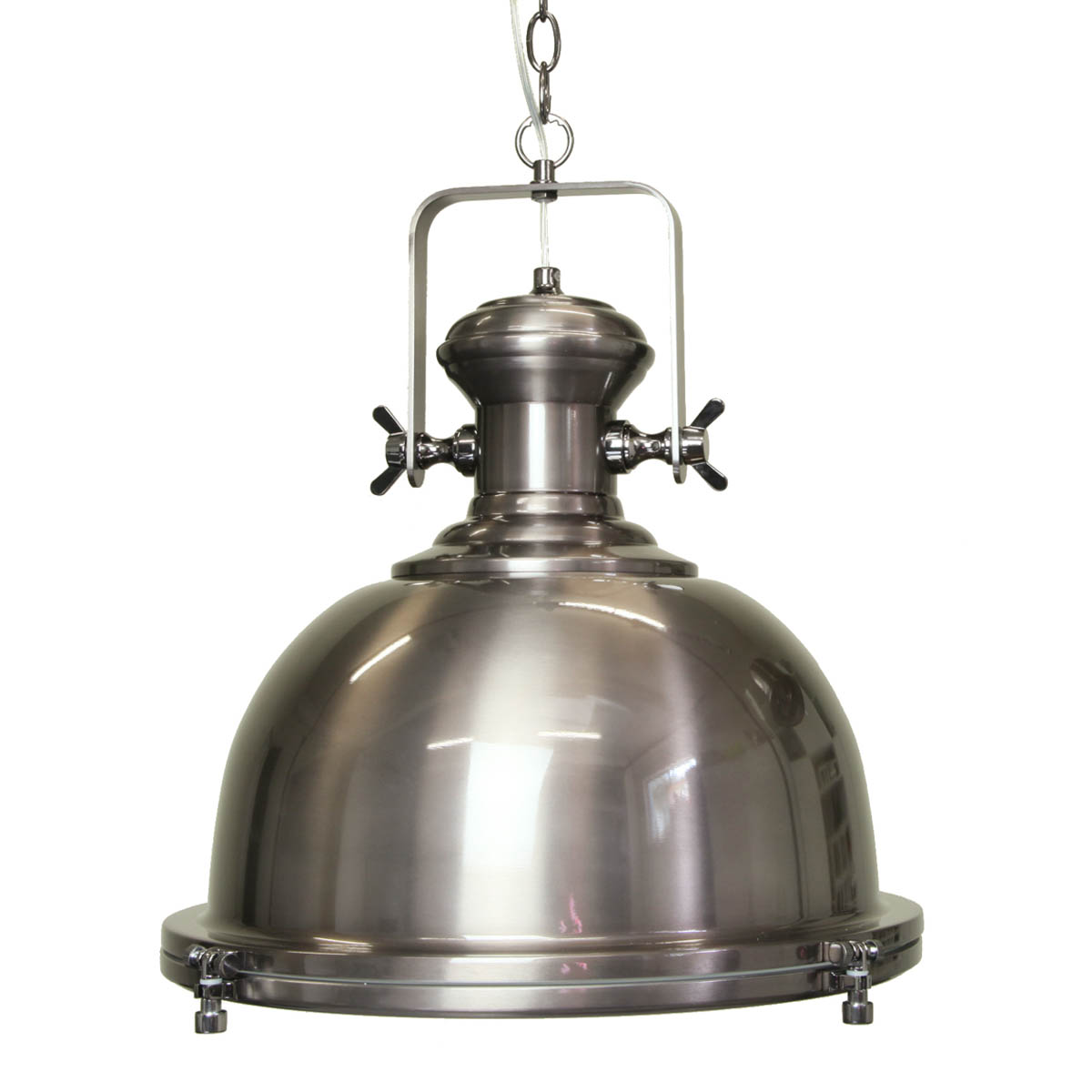 Gaia Industrial Antique Silver Pendant Online Lighting