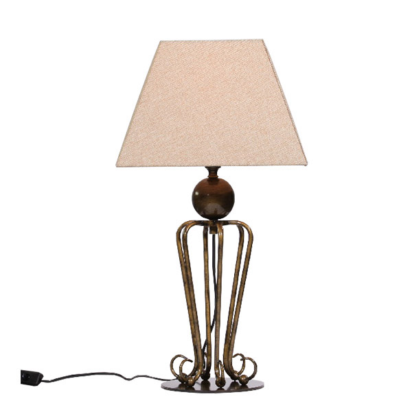 Folke antique brass table lamp aloadofball