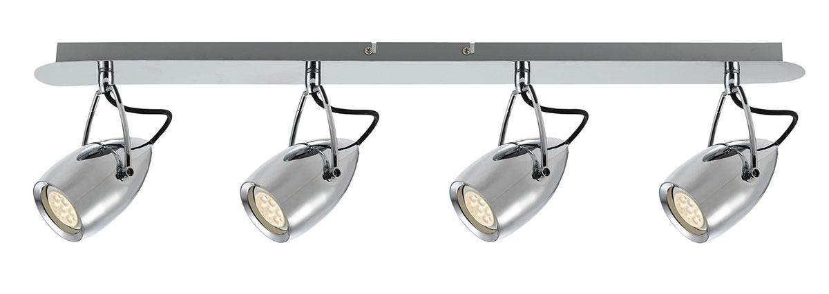 Tolosa LED 4 Light Bar Spotlight Chrome | Online Lighting
