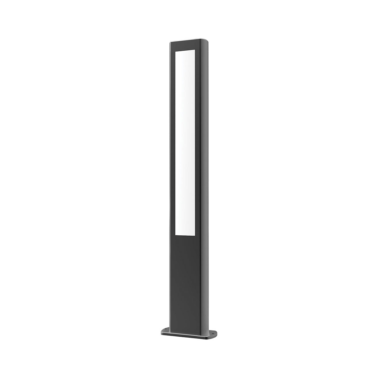 exterior 800mm led bollard black amun4 online lighting