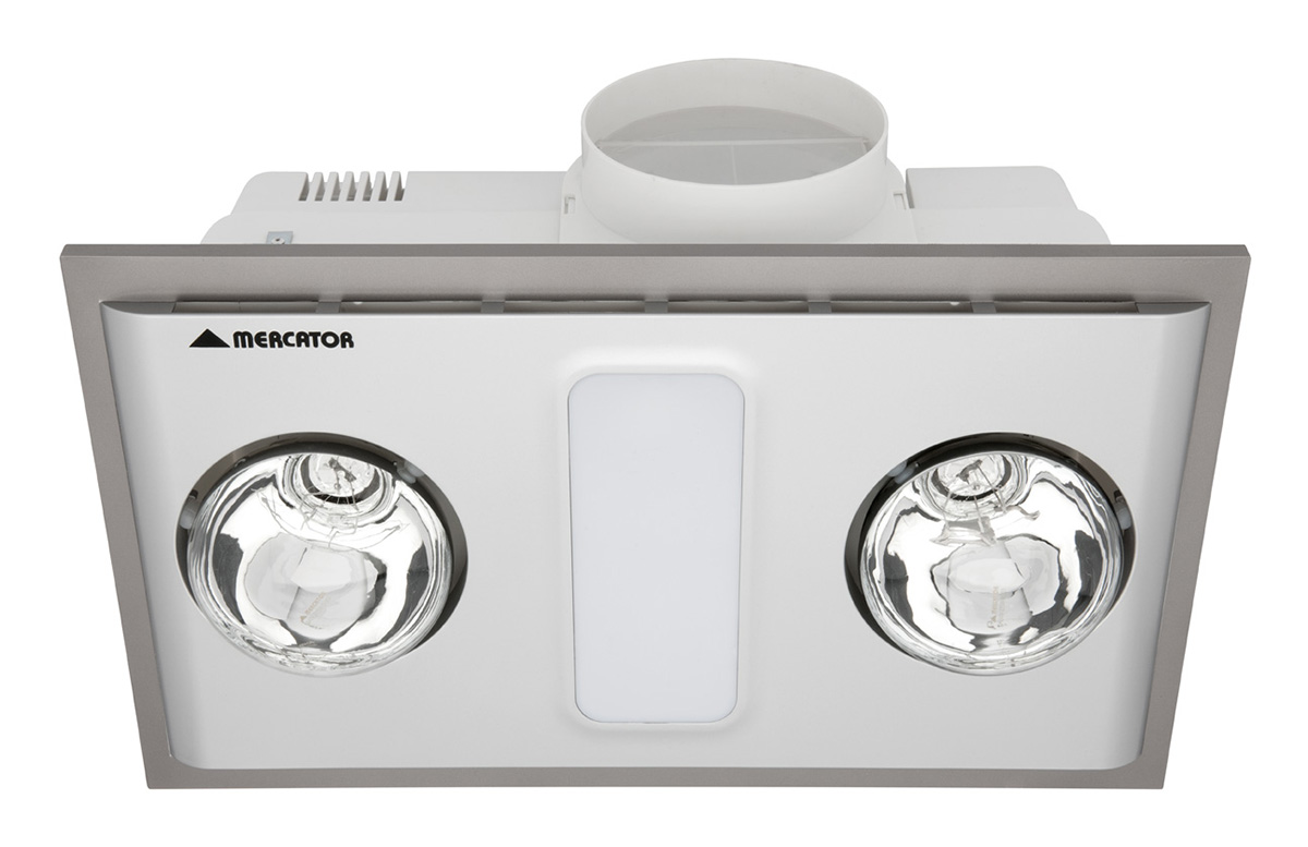 Cosmo duo bathroom 3 in 1 exhaust fanlightheater silver bh012pswsl aloadofball Choice Image