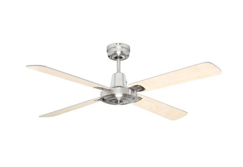 ceiling fan 4 blades. swift timber brushed chrome ceiling fan 4 blade 1200mm 48\ blades