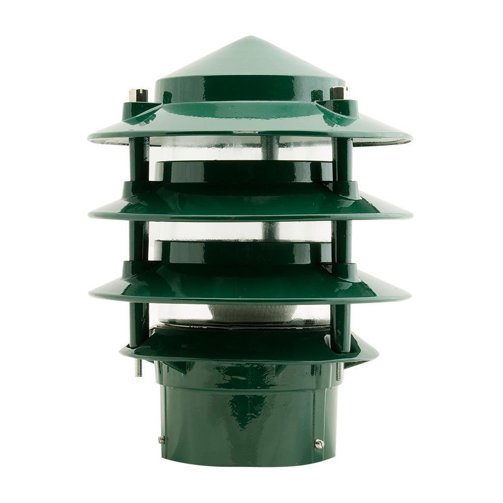 Outdoor Lamp Post Australia: Pagoda Post Light Green