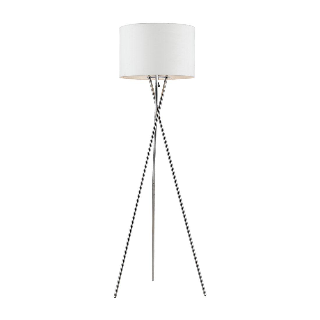 Picture of: Denise 1 Light Floor Lamp White Denise Fl Ch Wh
