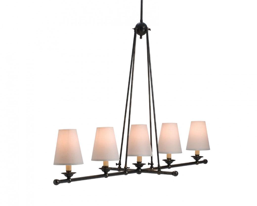 sc 1 st  Online Lighting & Veranda Straight 5 Light Pendant With Shades - P-VER5
