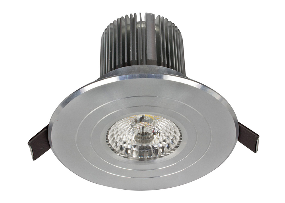 Shop Progress Lighting 4 Light Calven Brushed Nickel: Luxor Fixed Round 13W Dimmable LED Downlight Brushed
