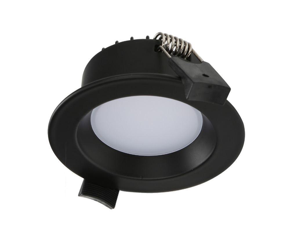 huge discount b3b60 554a8 Round 7W Dimmable LED Downlight Black Frame / Tri-Colour - AT9023/BLK/