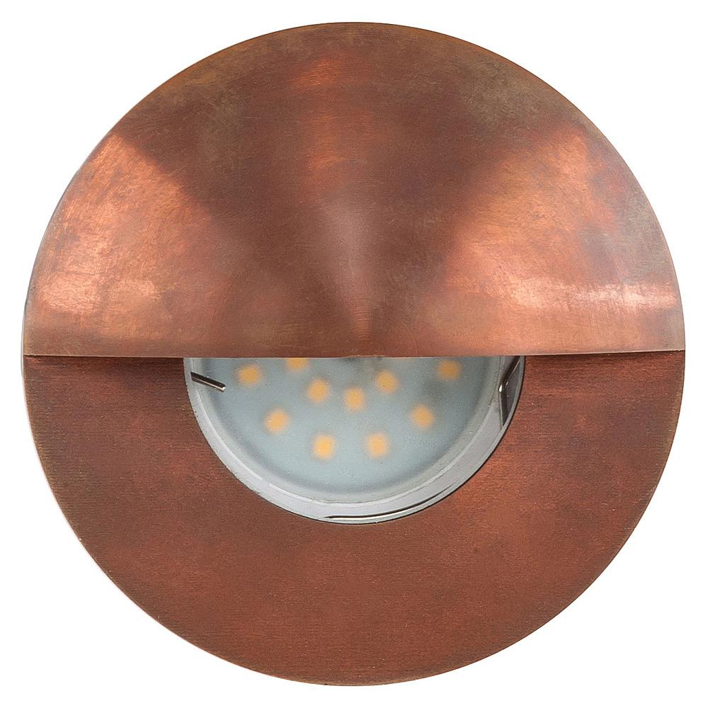 Ollo 12v led recessed eyelid step light solid copper warm white hv aloadofball Choice Image