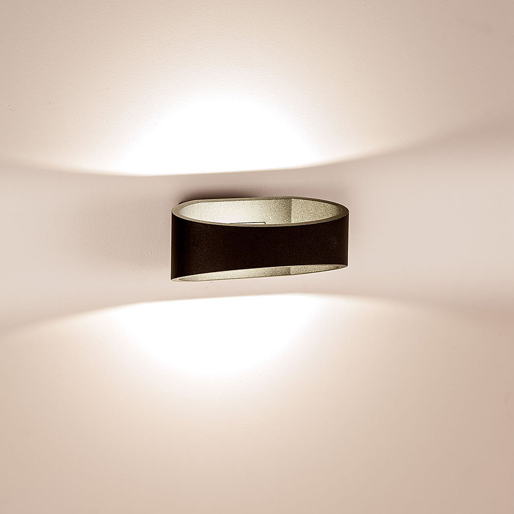 Wall Sconces That Shine Up And Down: Luxe 9 Watt 240V LED Up/Down Wall Light Matt Black / Cool