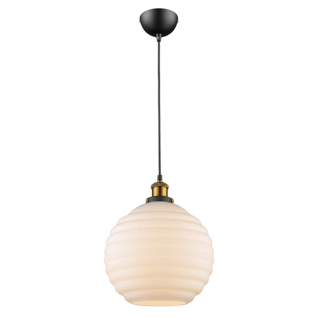 Image of: Eva 1 Light Lantern Pendant Opal 31306
