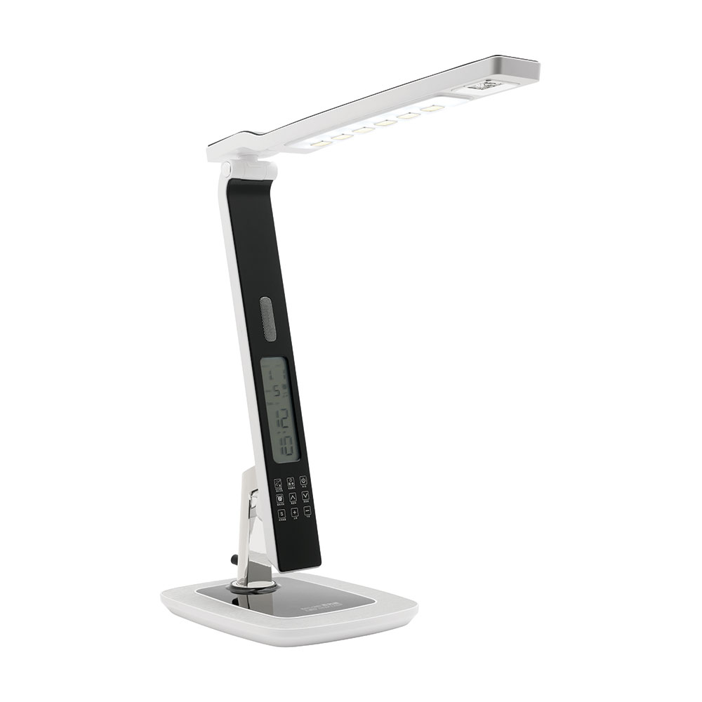 Tempo 10w Led Touch Desk Lamp Usb Port Alarm Clock