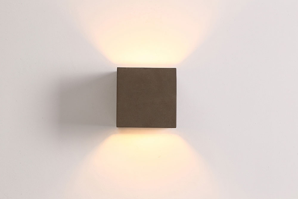 Cube 35w led exterior wall light cement cubo1 aloadofball Choice Image