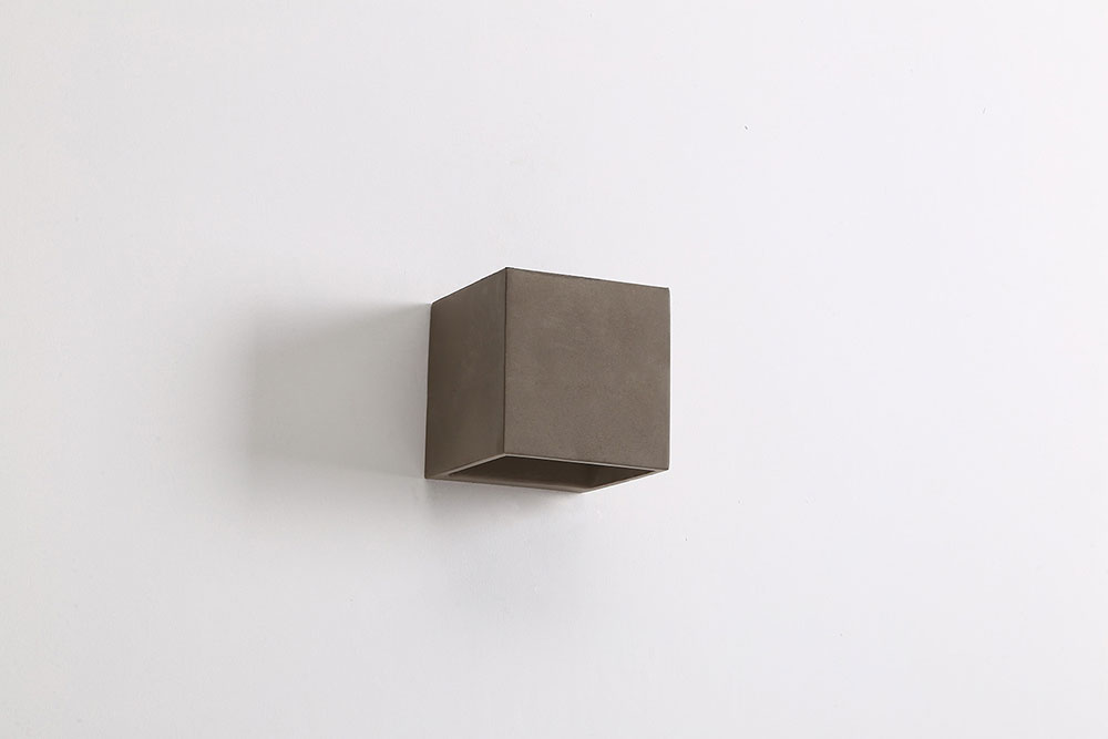 Cube 3 5w Led Up Down Exterior Wall Light Cement Warm