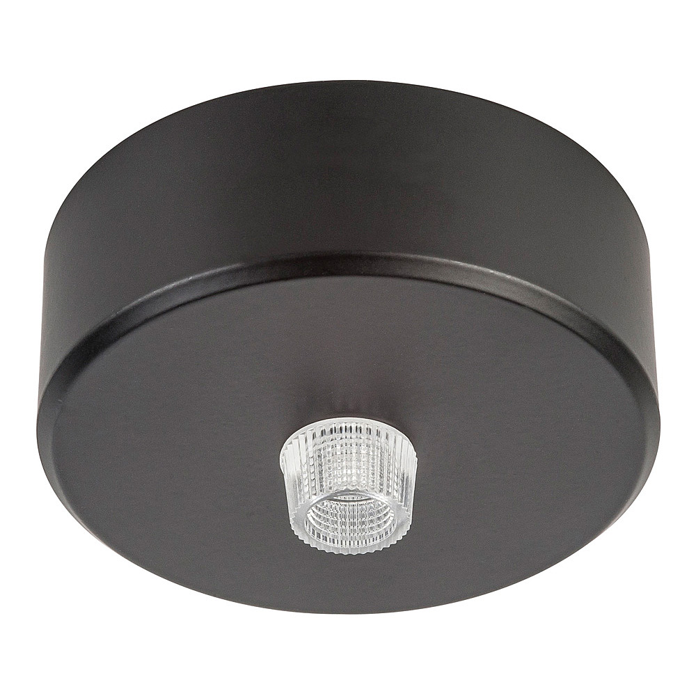 Canopy 70mm Round Surface Mounted Black - HV9705-7023-BLK