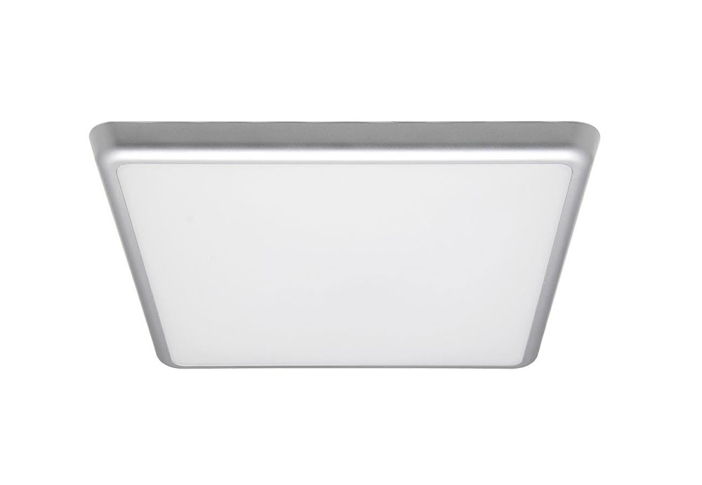 Square 18w Slimline Led Oyster Silver Frame Cool White At3015 18