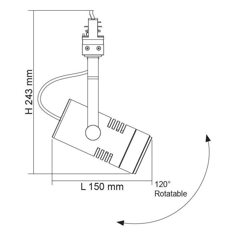 Three Circuit 4w Track Light Daylight Online Lighting