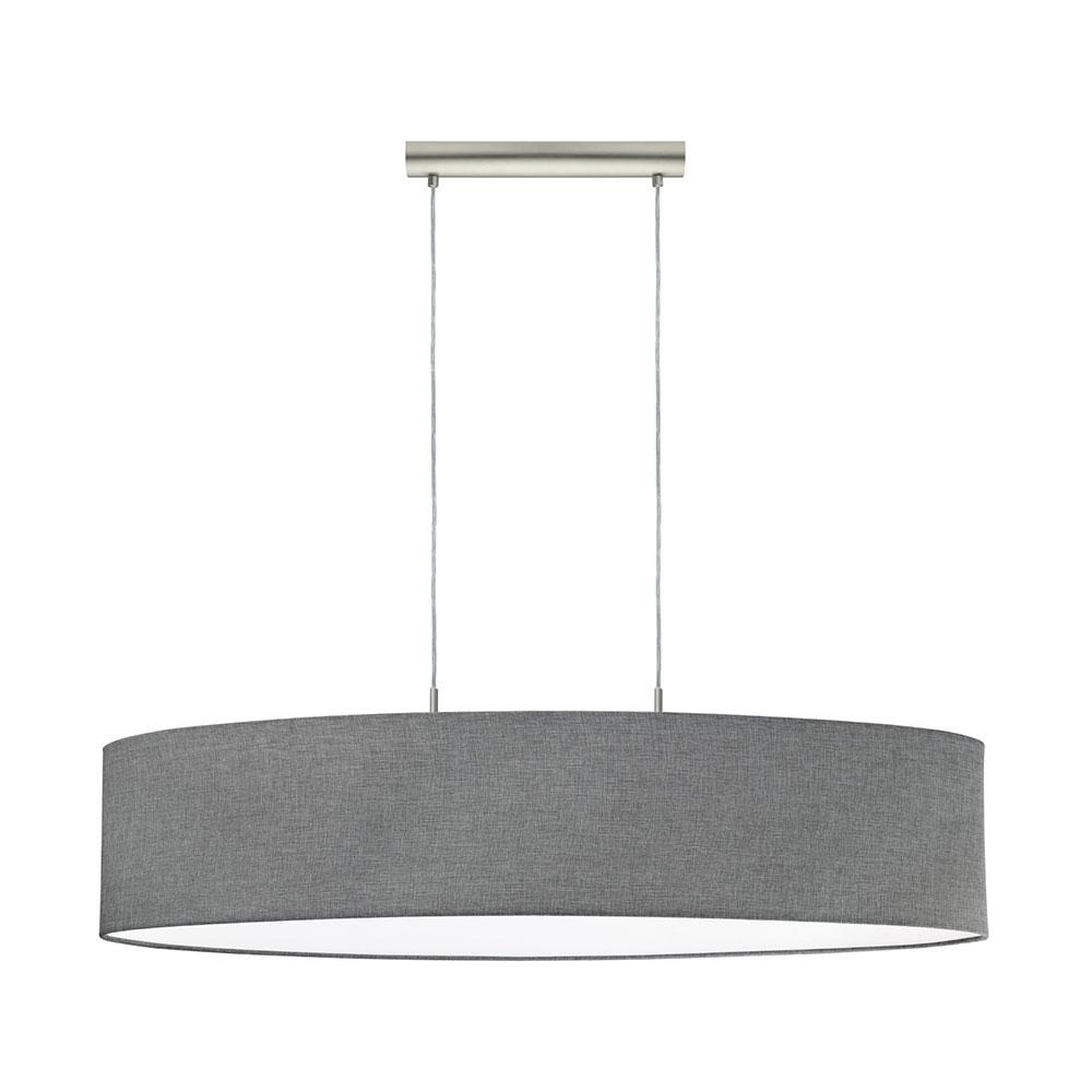 Pasteri 2 Light Large Oval Pendant Satin Nickel Grey 96371