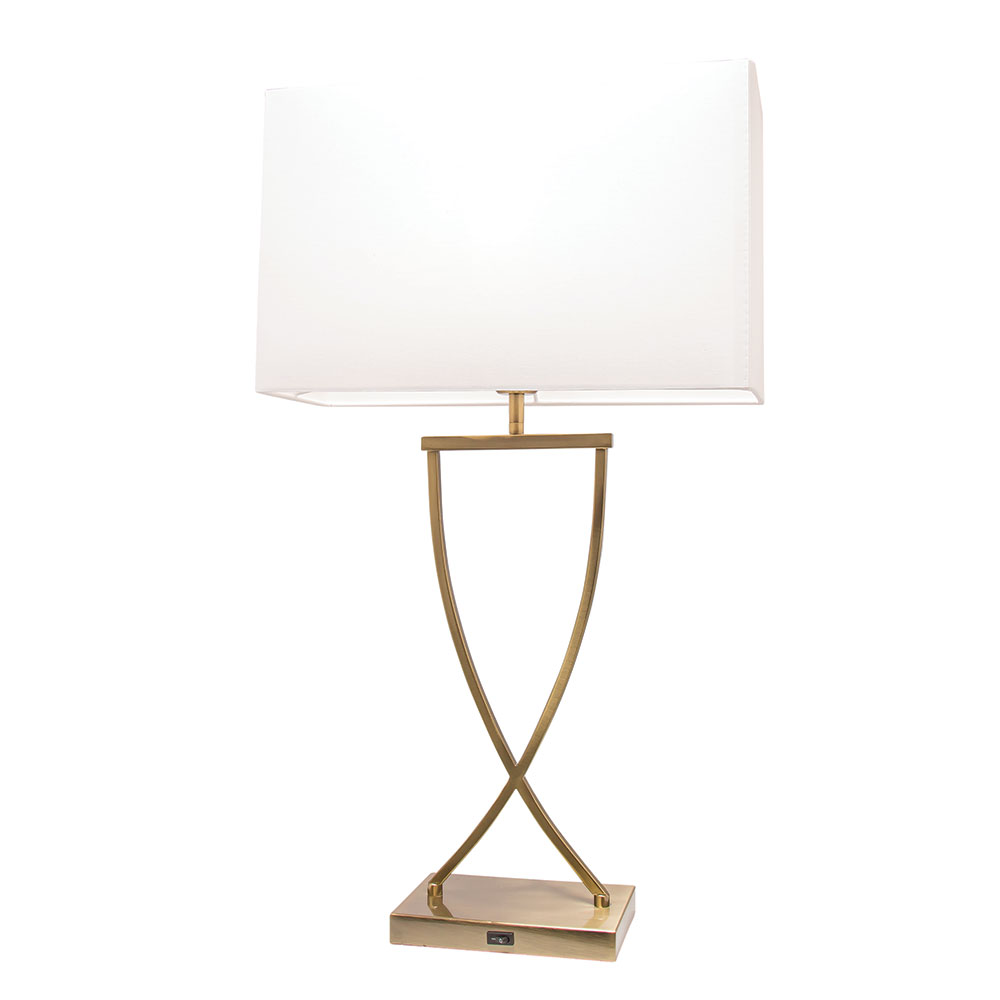 Aristo Table Lamp With Usb Charging Port Bronze A57511brz