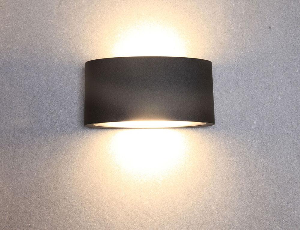Tama 6 8w Led Up Down Wall Light Black Finish Warm White Tama1