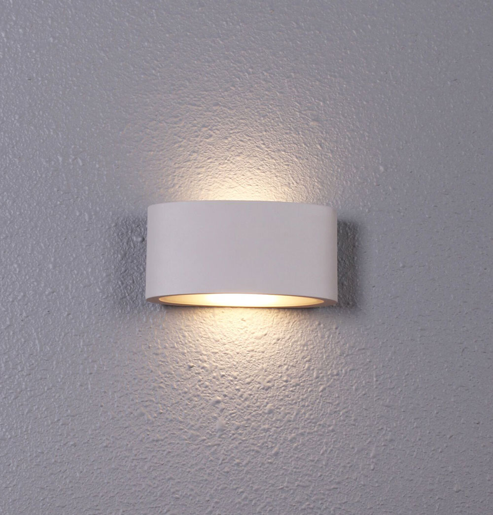 Wall Sconces That Shine Up And Down: Tama 6.8W LED Up/Down Wall Light White Finish / Warm White