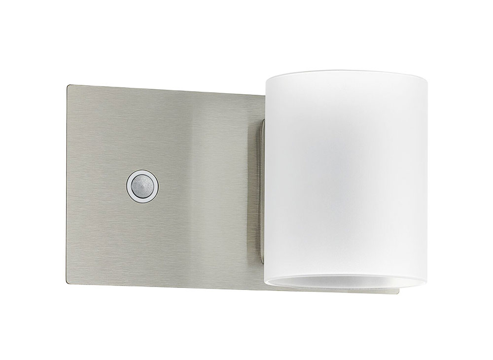 Pacao 5w led touch dimmer wall light satin nickel warm white 95784 aloadofball Image collections