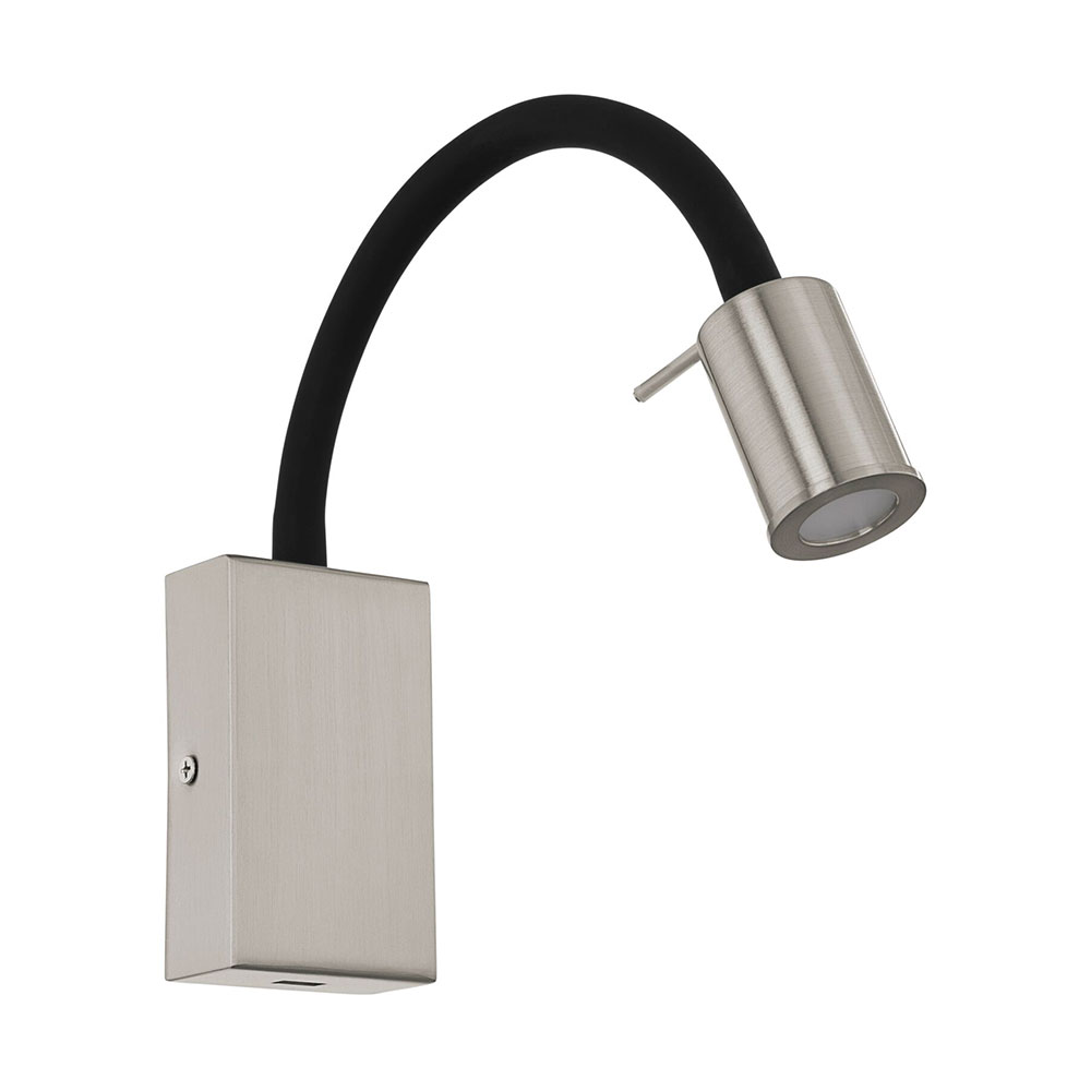 Tazzoli 35w led switched flexible reading wall light with usb satin n aloadofball Image collections