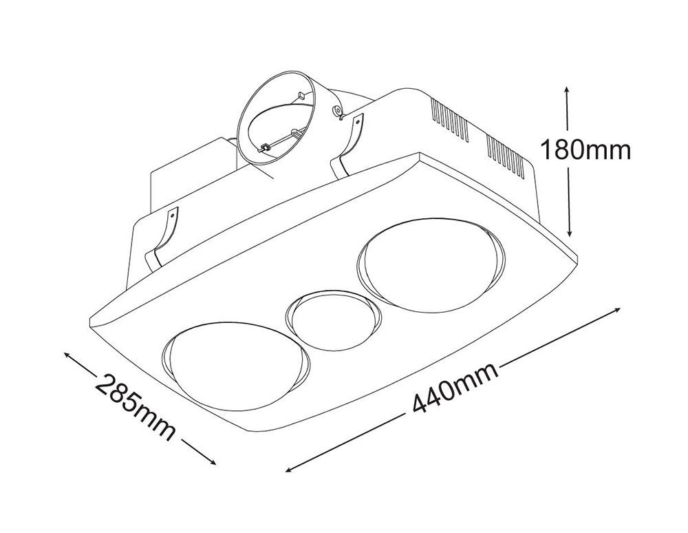 contour 2 3-in-1 bathroom heater    silver