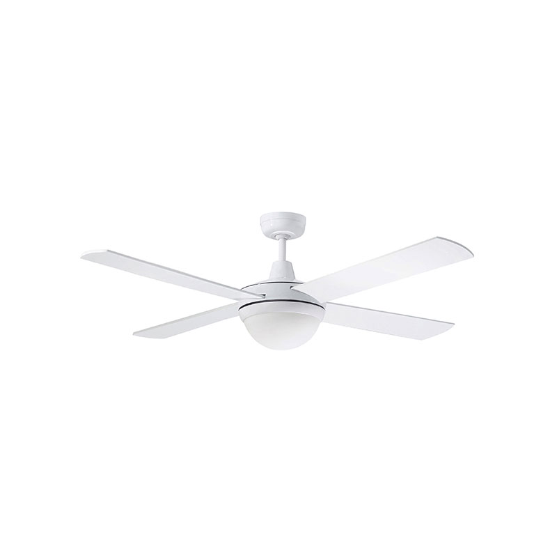 Lifestyle Ac 52 Ceiling Fan With Twin E27 Light White Dls1344w
