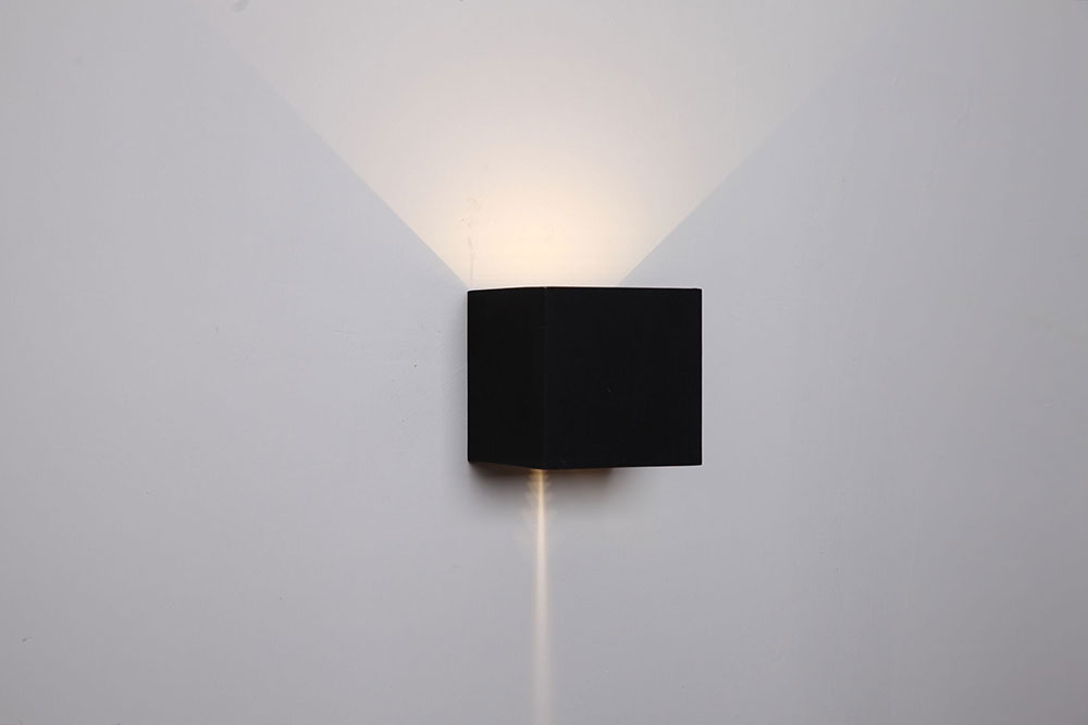 up down lights bathroom sconce cube 68w led exterior updown wall light black toca1