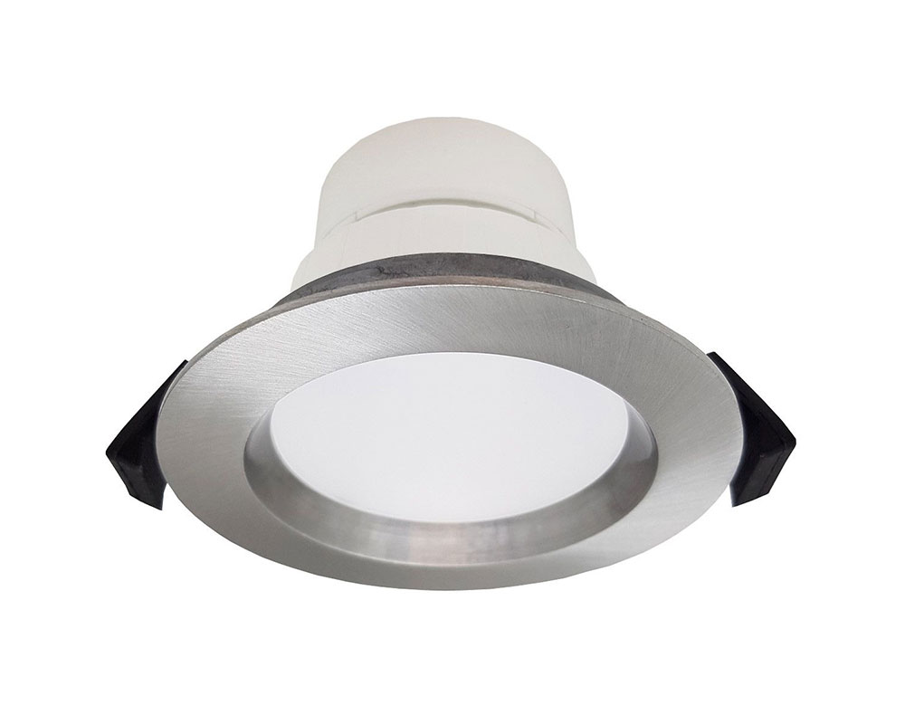 finest selection da464 74692 Roystar 9W Dimmable LED Dip Switch Recessed Downlight Brushed Chrome /