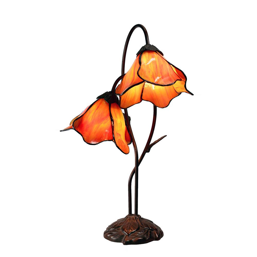 Tiffany Twin Lotus Table Lamp Tl Al8