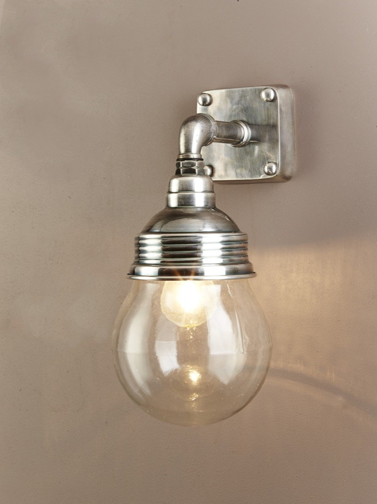 dover 1 light wall lamp antique silver elpim51119as