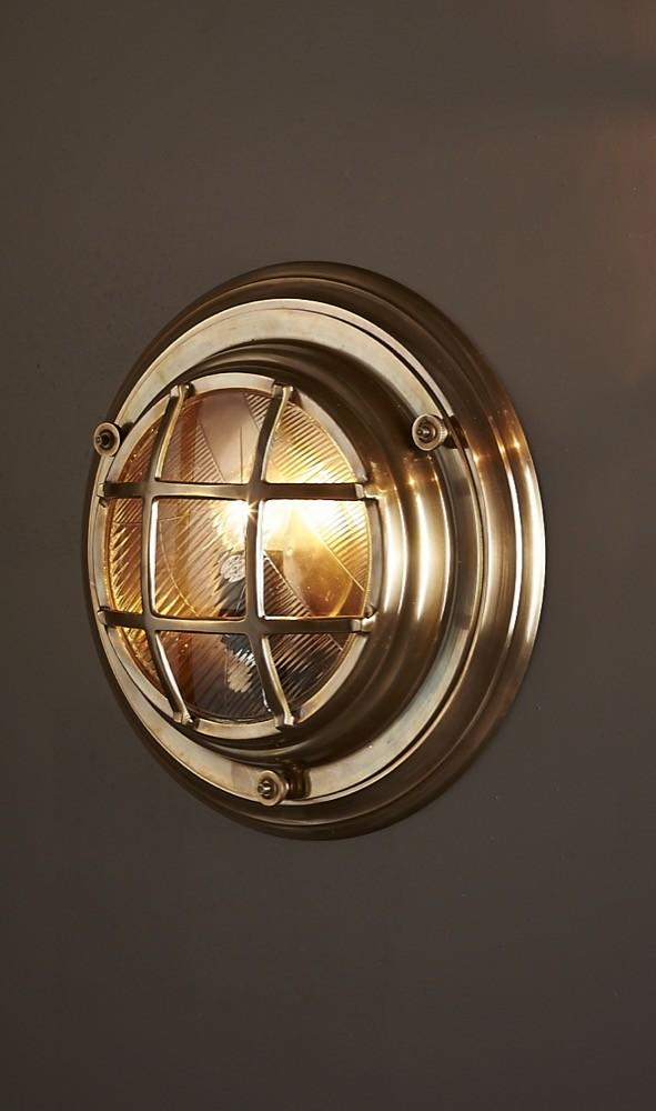 Globes For Sale >> Jervis Porthole 1 Light Wall Lamp Brass - ELPIM59986AB